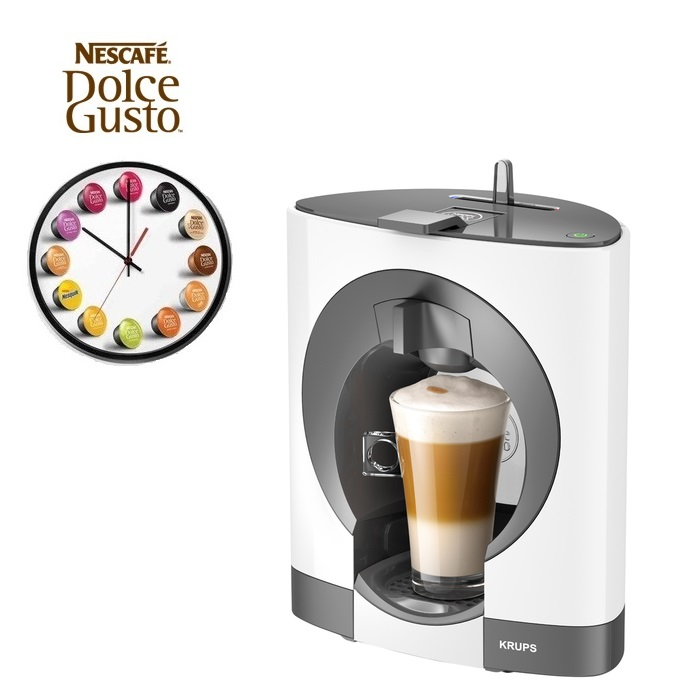 Dolce Gusto Oblo Coffee Maker : Krups Dolce Gusto Oblo White Multi Drink Coffee Machine KP1101 Around The Clock Offers