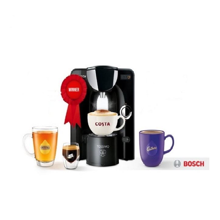 bosch tassimo t55 charmy multi drinks coffee machine tas5542gb black around the clock offers. Black Bedroom Furniture Sets. Home Design Ideas