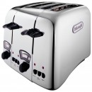 DeLonghi Argento 4 Slice Retro Toaster Chrome CT04C