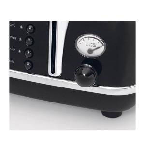 DeLonghi Icona Retro 4 Slice Toaster Black CTO4003.BK