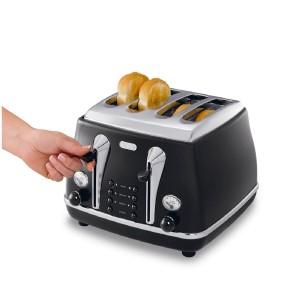 DeLonghi Icona Vintage 4 Slice Toaster Black CTO4003.BK