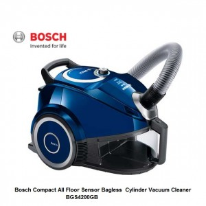 Bosch Compact All Floor Bagless Sensor Cylinder Vacuum Cleaner BGS4200GB