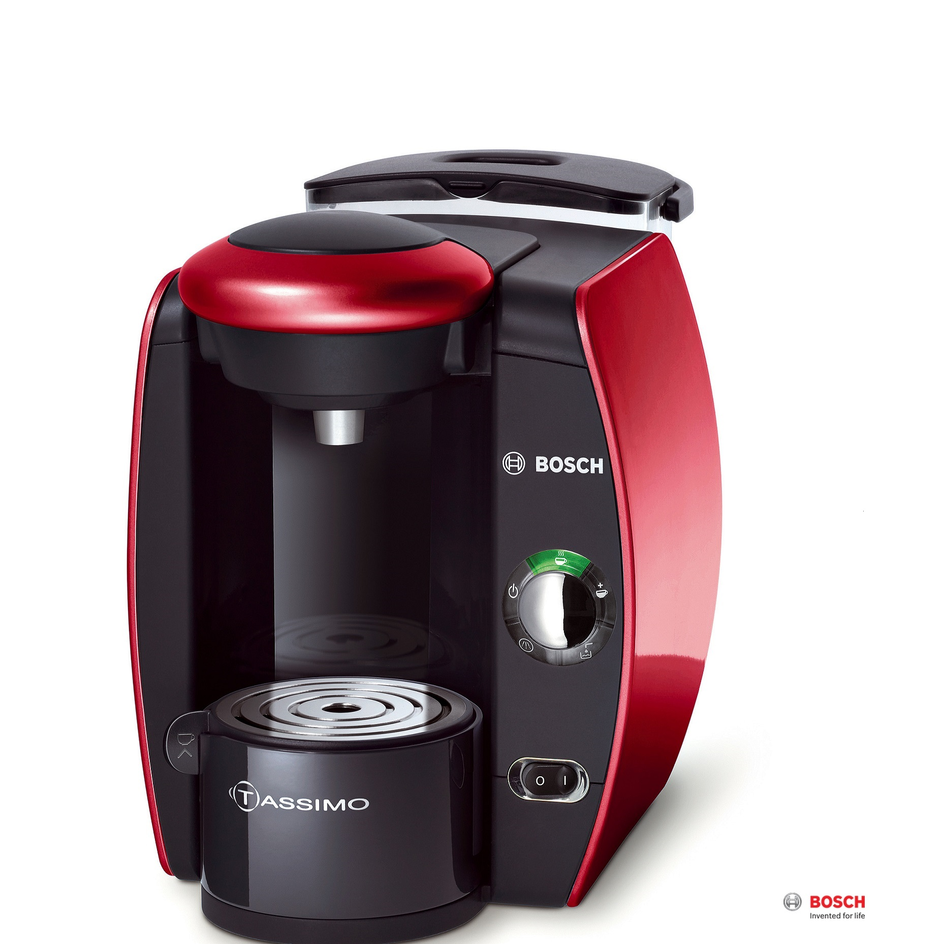 bosch tassimo multi beverage machine red t40 tas4013gb around the clock offers. Black Bedroom Furniture Sets. Home Design Ideas