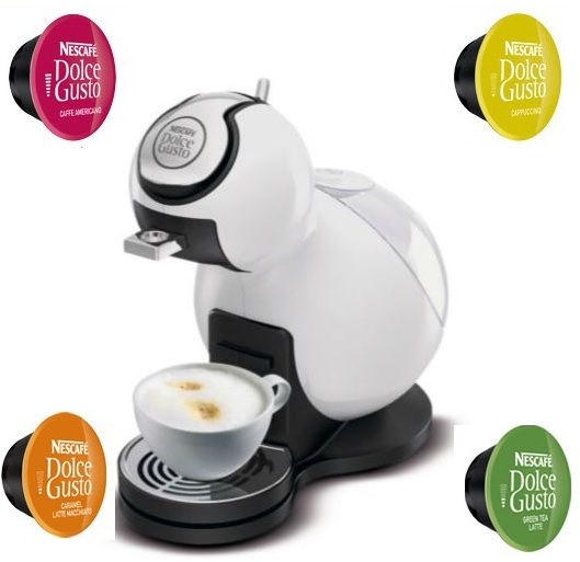 DeLonghi Nescafe Dolce Gusto Melody III Coffee Machine Piano White EDG420W