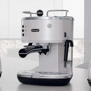 DeLonghi Icona Retro Pump Espresso Cappuccino Machine Pearl White ECO310W