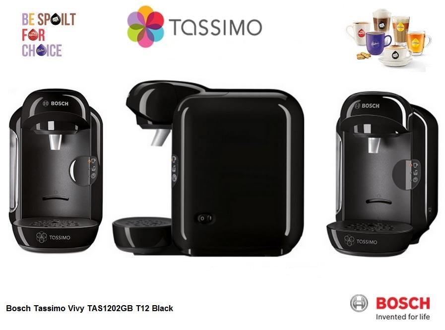 bosch tassimo vivy black tas1202gb around the clock offers. Black Bedroom Furniture Sets. Home Design Ideas