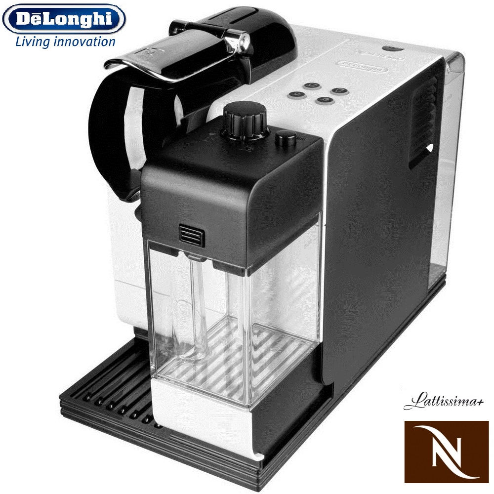 delonghi nespresso lattissima plus en520 pw pearl white capsule coffee machine around the. Black Bedroom Furniture Sets. Home Design Ideas