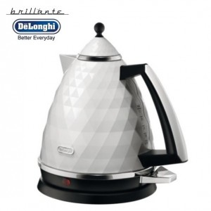 DeLonghi KBJ3001.W Brillante White Diamond Jug Kettle