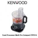 Kenwood FPP214 Multi Pro Compact Food Processor 750W Black