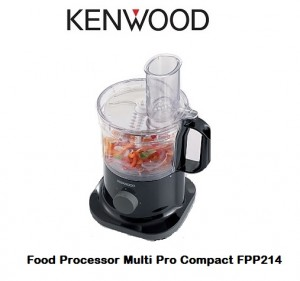 Kenwood FPP214 Multi Pro Compact Food Processor 750W Black