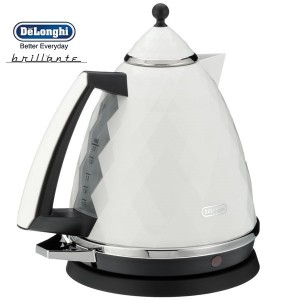 DeLonghi KBJ3001.W Brillante White Diamond Jug Kettle