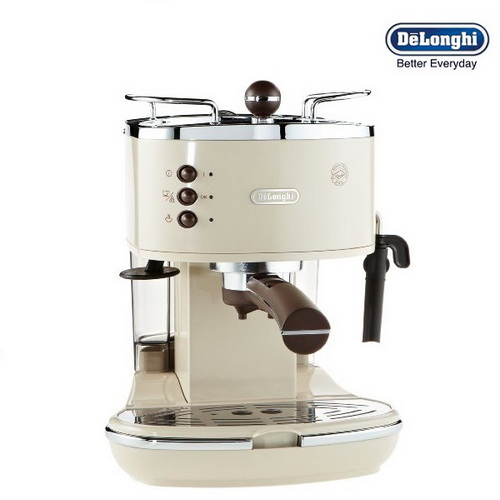 Delonghi Coffee Maker Sainsburys : DeLonghi ECOV311BG Icona Vintage Espresso and Cappuccino Machine Cream Around The Clock Offers