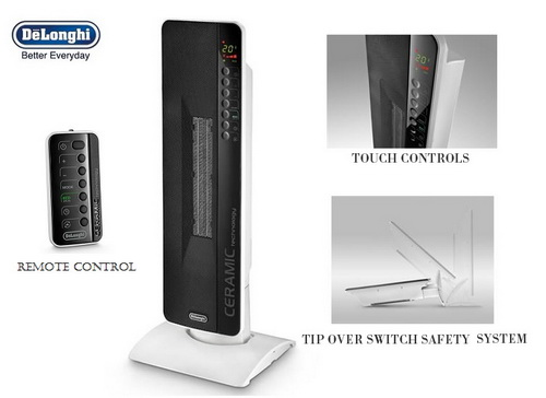 Delonghi Tch8093er Ceramic Tower Heater With Lcd Screen