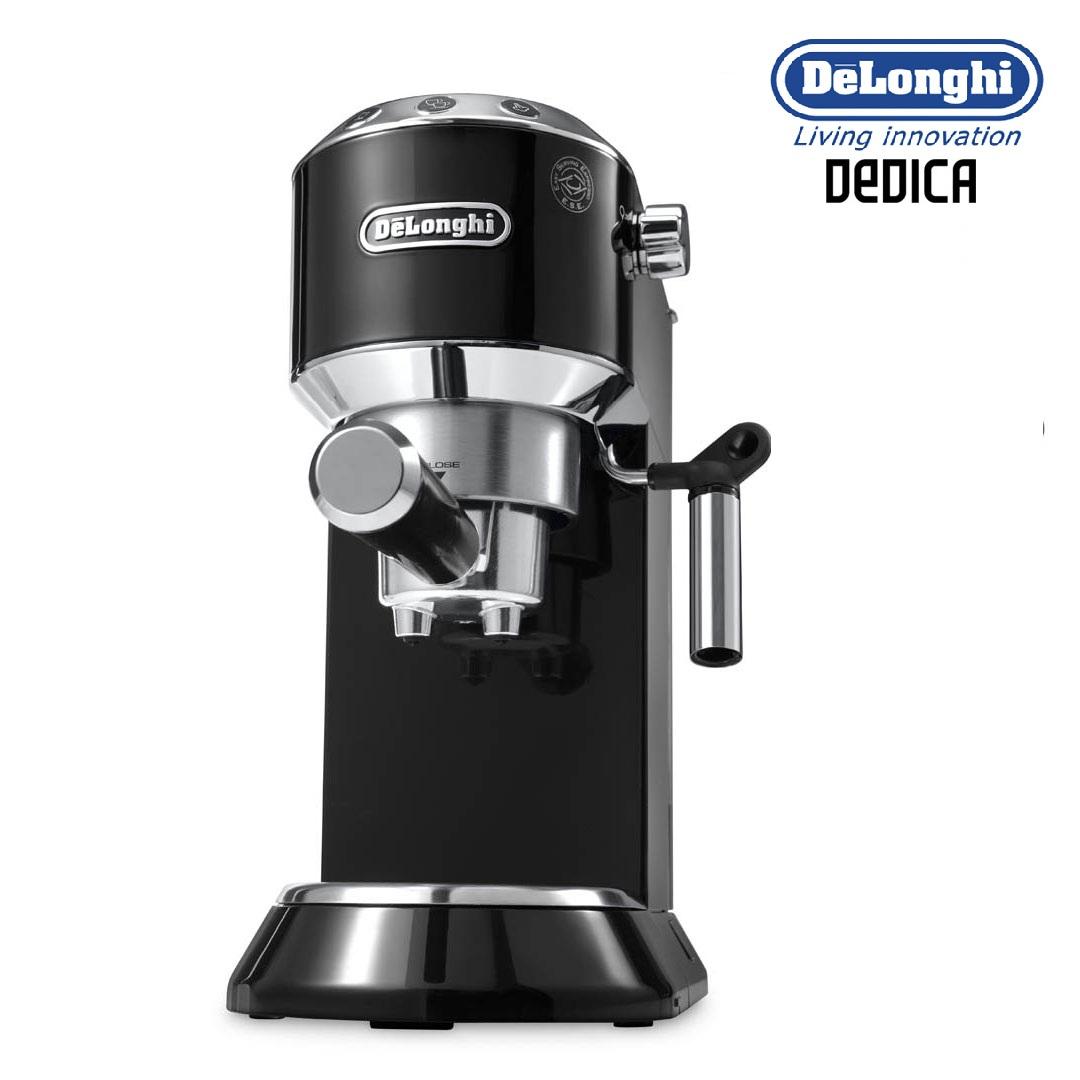 delonghi ec680bk dedica espresso and cappuccino machine 15 bar pressure black around the clock. Black Bedroom Furniture Sets. Home Design Ideas