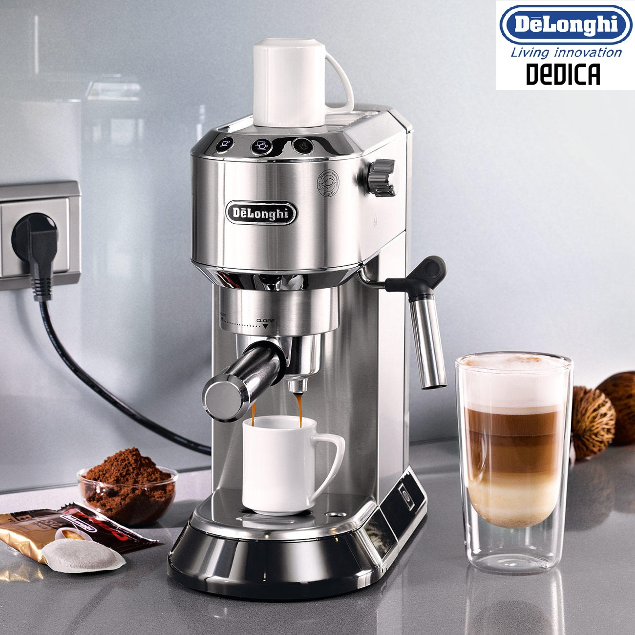 delonghi ec680m dedica espresso and cappuccino 15 bar pump. Black Bedroom Furniture Sets. Home Design Ideas