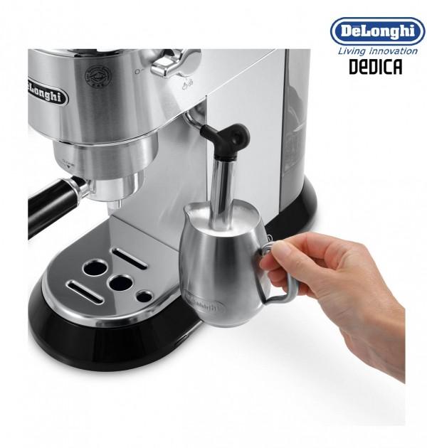 Delonghi Coffee Maker Stainless Steel Espresso : DeLonghi EC680M Dedica Espresso And Cappuccino 15 Bar Pump Coffee Machine Stainless Steel ...