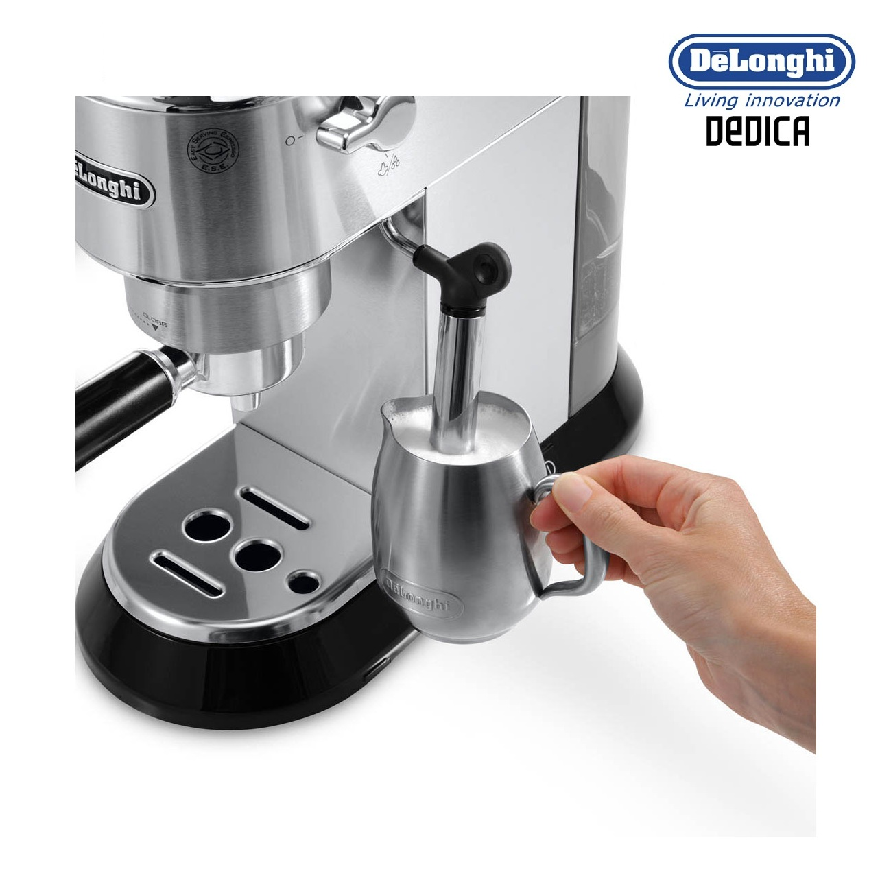 delonghi ec680m dedica espresso and cappuccino 15 bar pump coffee machine stainless steel. Black Bedroom Furniture Sets. Home Design Ideas