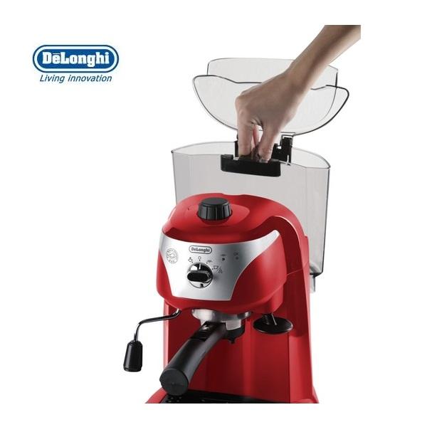 Delonghi Coffee Maker Motivo : DeLonghi Motivo Espresso and Cappuccino Machine Scarlett Red ECC221.R Around The Clock Offers