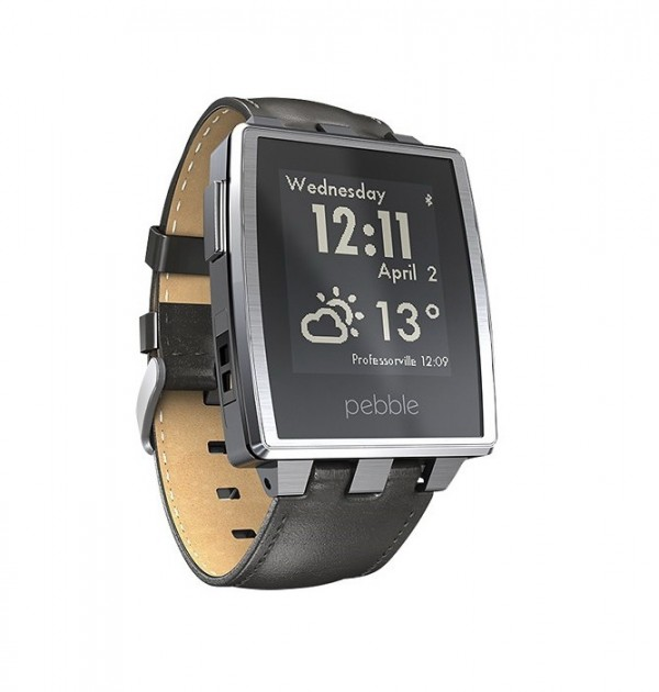 Pebble Steel SmartWatch 401SLR Brushed Stainless