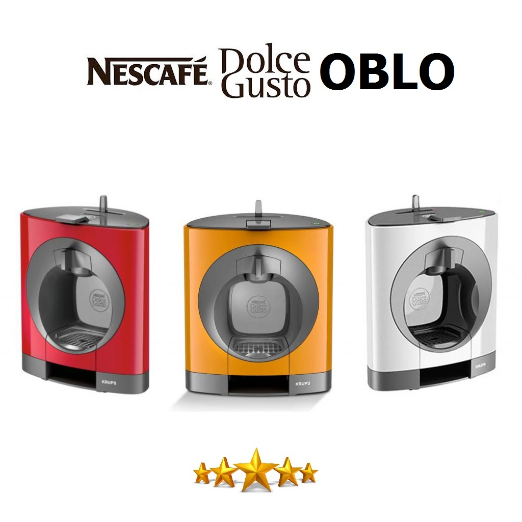 krups dolce gusto oblo white multi drink coffee machine. Black Bedroom Furniture Sets. Home Design Ideas