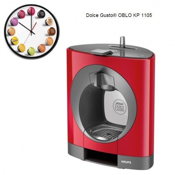 Krups Dolce Gusto Coffee Maker Reviews : Krups Dolce Gusto Oblo Red Multi Drink Coffee Machine KP110540 / KP1105 Around The Clock Offers