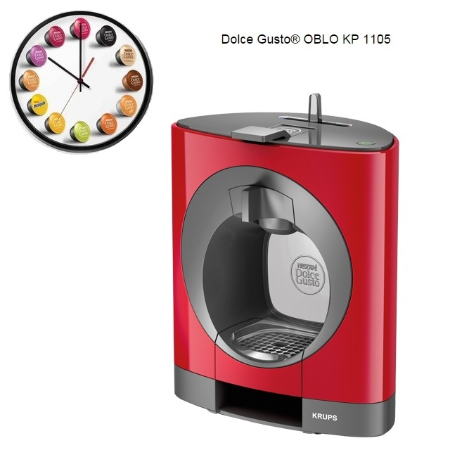 Krups Dolce Gusto Oblo Red Multi Drink Coffee Machine KP110540 / KP1105 Around The Clock Offers