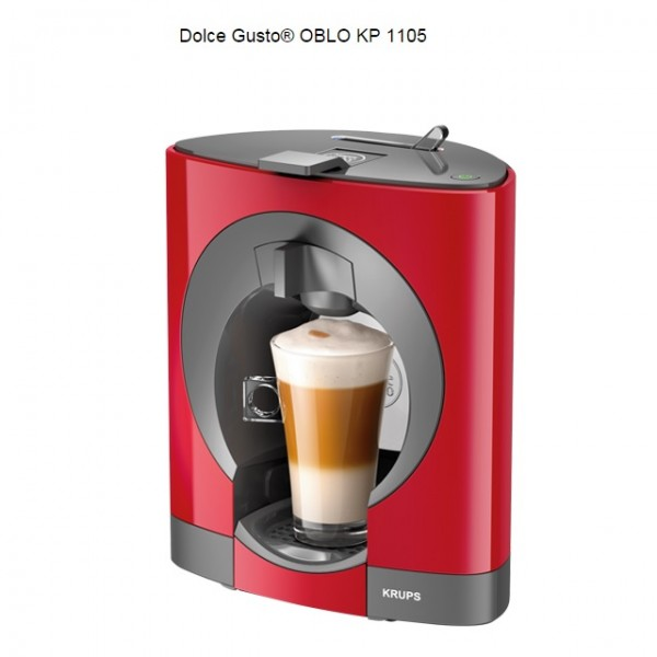 Krups Dolce Gusto Oblo Coffee Maker Reviews : Krups Dolce Gusto Oblo Red Multi Drink Coffee Machine KP110540 / KP1105 Around The Clock Offers