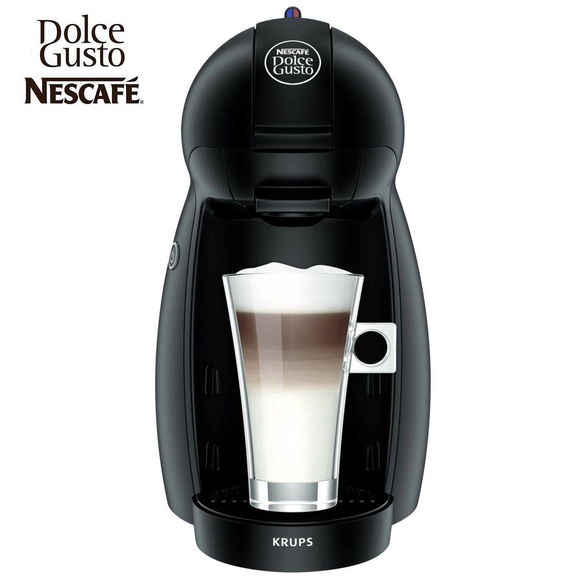 krups nescafe dolce gusto piccolo black multi drink coffee. Black Bedroom Furniture Sets. Home Design Ideas