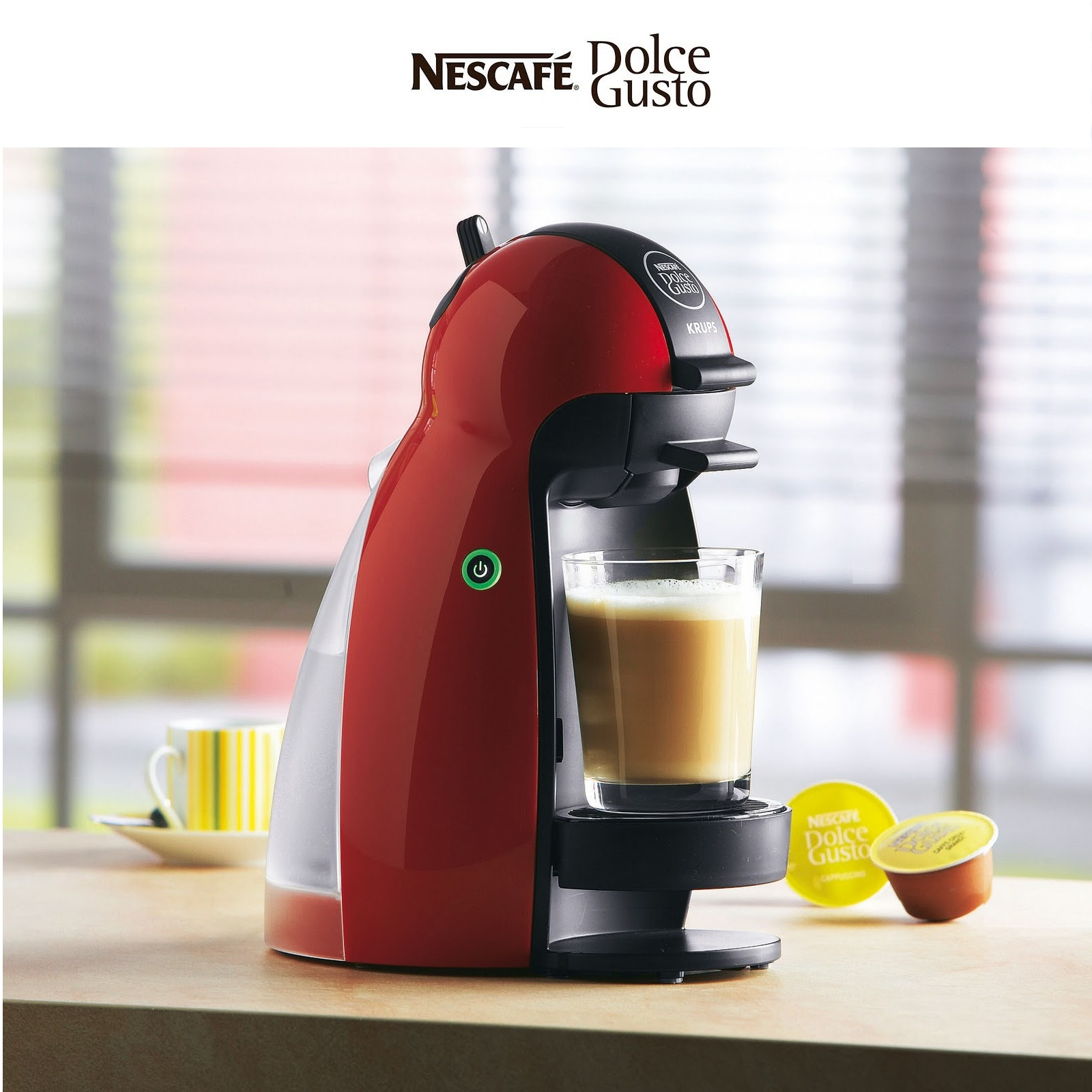 krups nescafe dolce gusto piccolo red multi drink coffee machine kp100640 a. Black Bedroom Furniture Sets. Home Design Ideas