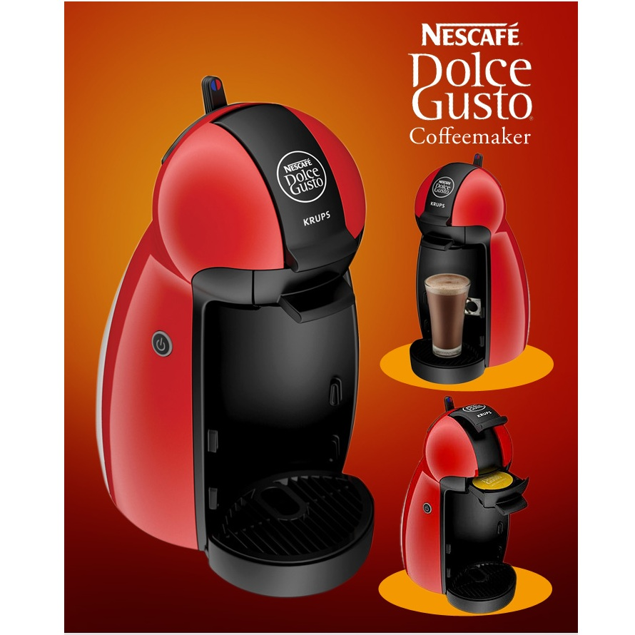 Krups Dolce Gusto Coffee Maker Reviews : Krups Nescafe Dolce Gusto Piccolo Red Multi Drink Coffee Machine KP100640 Around The Clock Offers