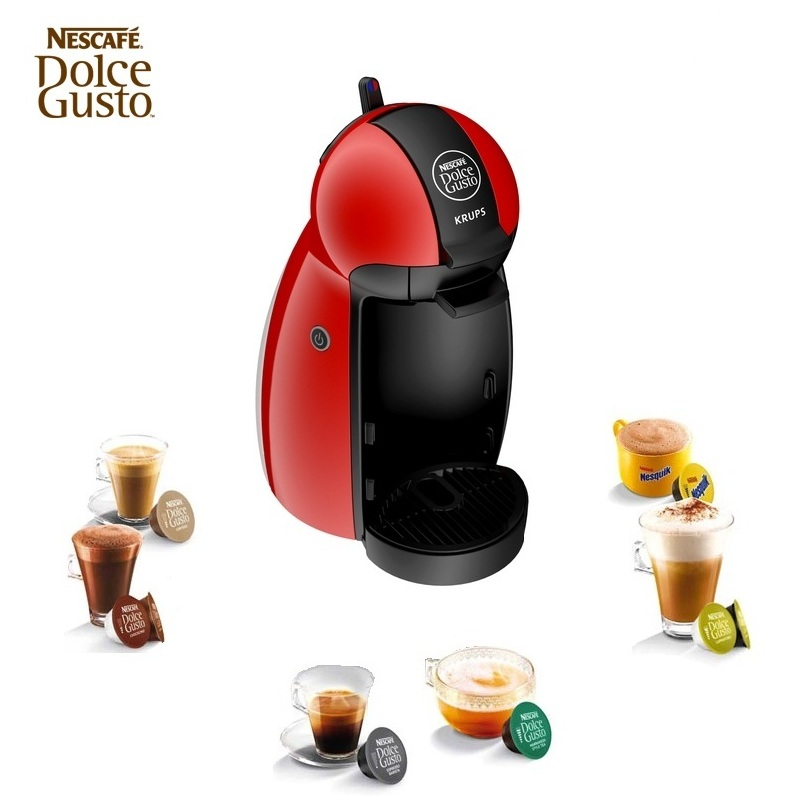 krups nescafe dolce gusto piccolo red multi drink coffee. Black Bedroom Furniture Sets. Home Design Ideas
