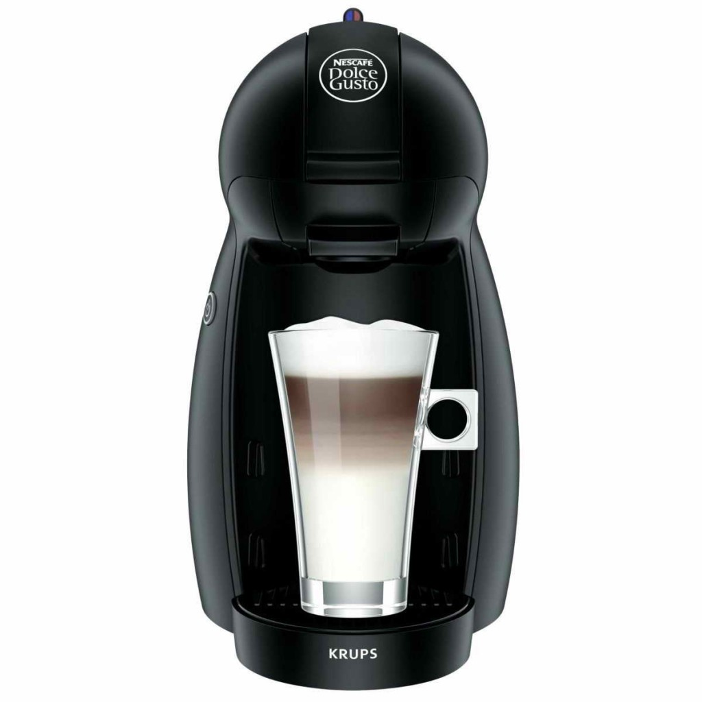 krups nescafe dolce gusto piccolo black multi drink coffee machine kp100040 around the clock. Black Bedroom Furniture Sets. Home Design Ideas