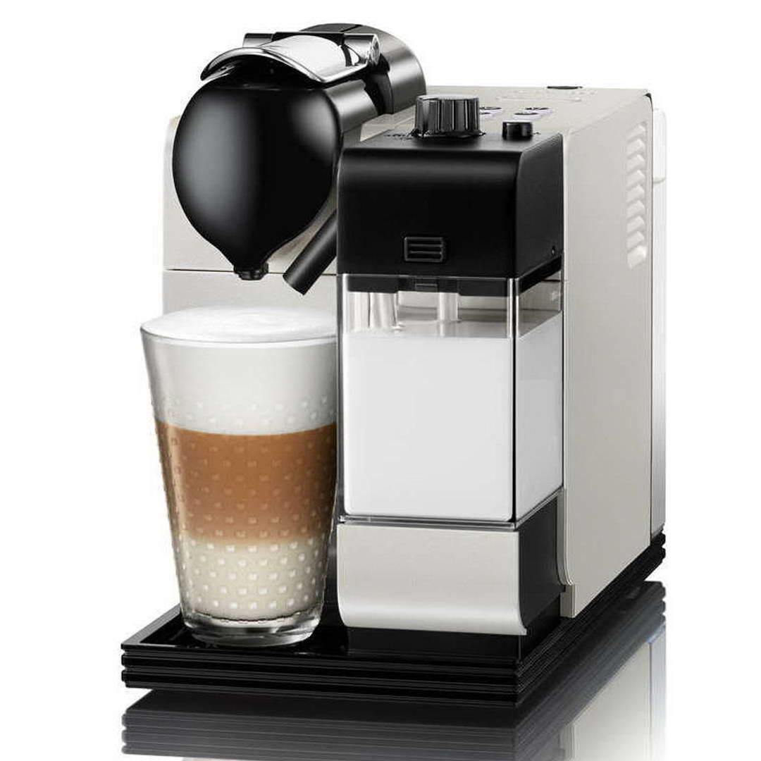 delonghi nespresso lattissima plus en520 pw pearl white capsule coffee machine around the. Black Bedroom Furniture Sets. Home Design Ideas