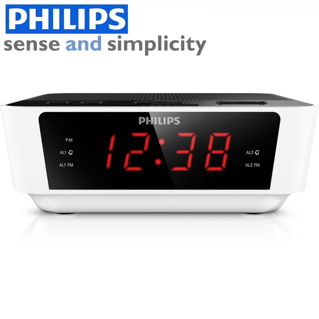 philips aj3115 digital fm tuning dual alarm clock radio. Black Bedroom Furniture Sets. Home Design Ideas