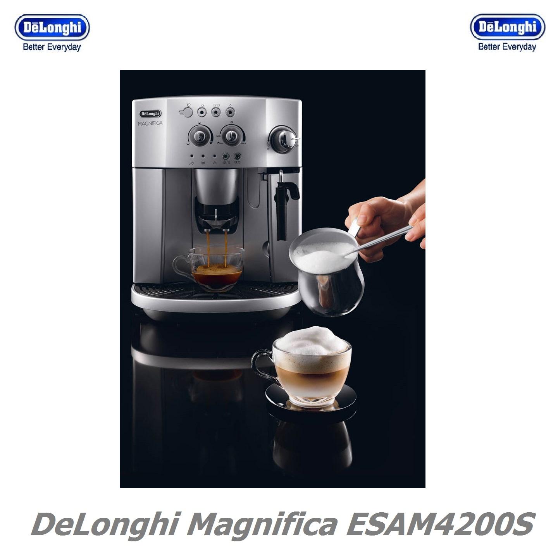 De Longhi Magnifica ESAM4200S Bean-To-Cup Automatic Espresso, Cappuccino and Coffee Machine in ...