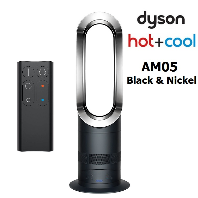 dyson am05 hot cool air bladeless fan dual heater cooler with remote control 200w black. Black Bedroom Furniture Sets. Home Design Ideas