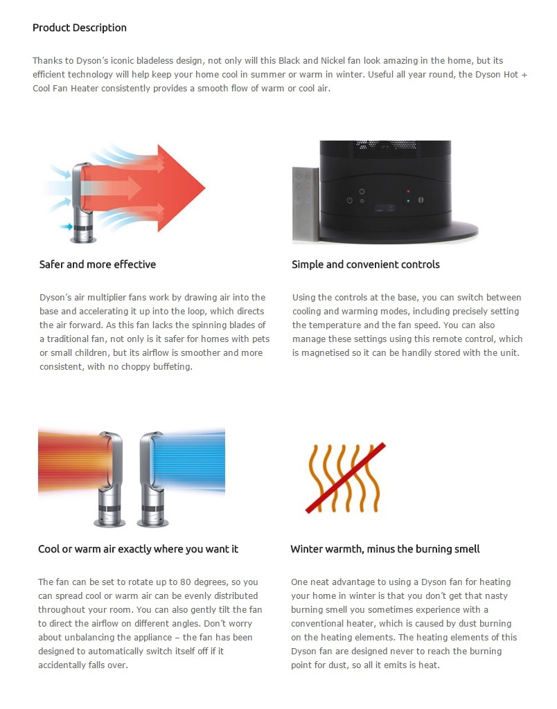 dyson hot and cool fan instructions