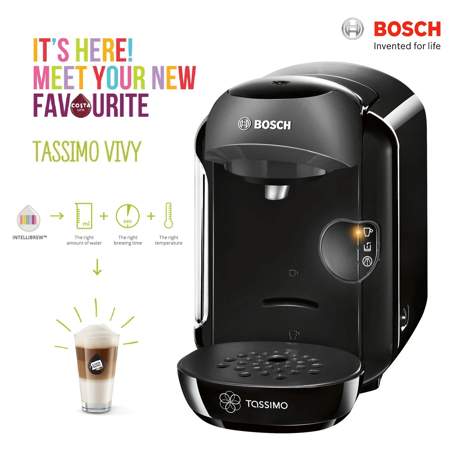Bosch Tassimo Vivy Ii T12 Multi Hot Amp Cold Dinks Machine