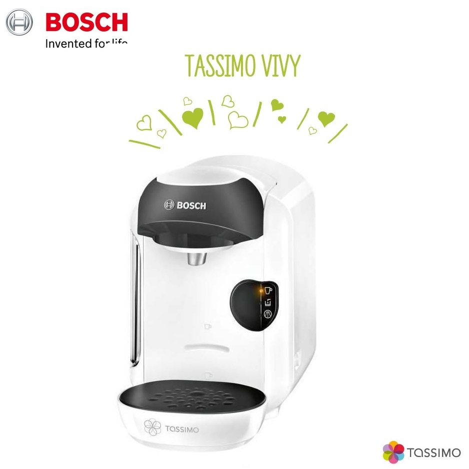 Bosch Tassimo Vivy II TAS1254GB Multi Drinks Pod Coffee Machine White Around The Clock Offers