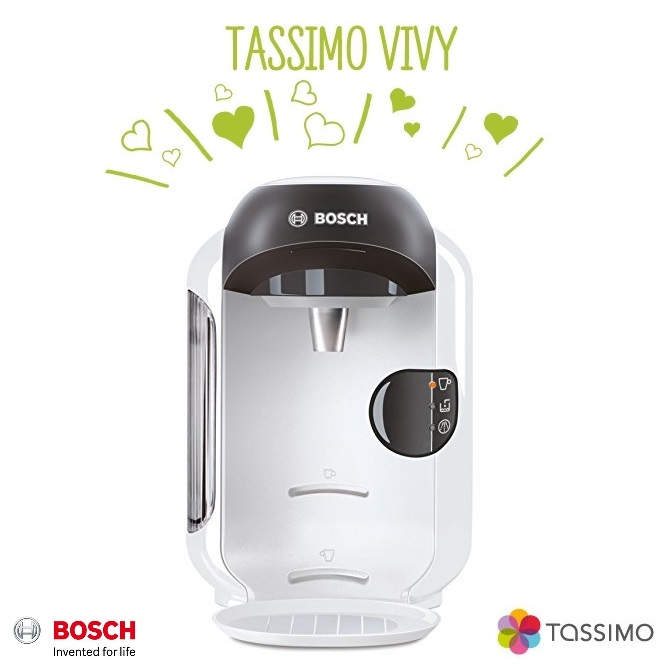 bosch tassimo vivy ii tas1254gb multi drinks pod coffee machine white around the clock offers. Black Bedroom Furniture Sets. Home Design Ideas