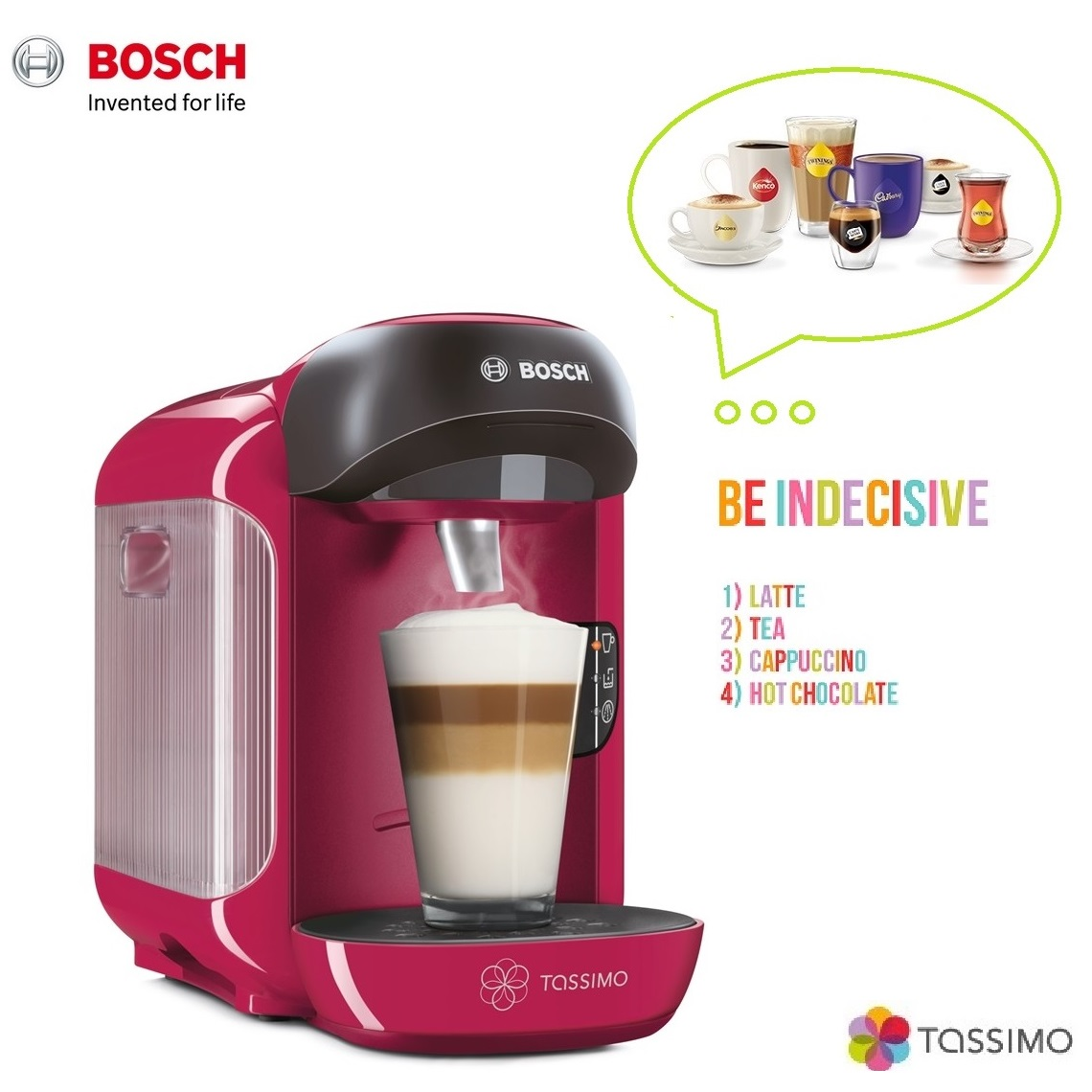 bosch tassimo vivy ii t12 tas1251gb multi drinks coffee. Black Bedroom Furniture Sets. Home Design Ideas
