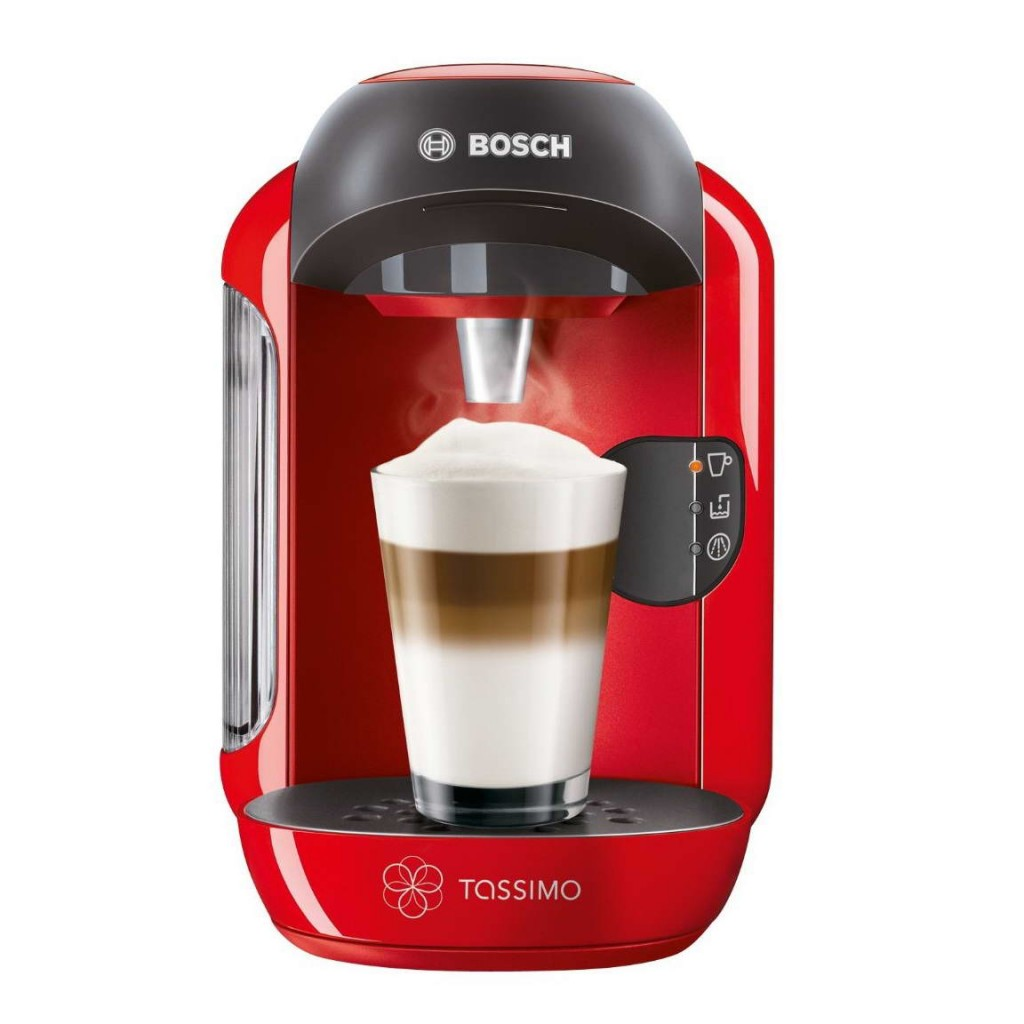 bosch tassimo vivy ii t12 tas1253gb multi hot cold drinks pod machine red around the clock. Black Bedroom Furniture Sets. Home Design Ideas