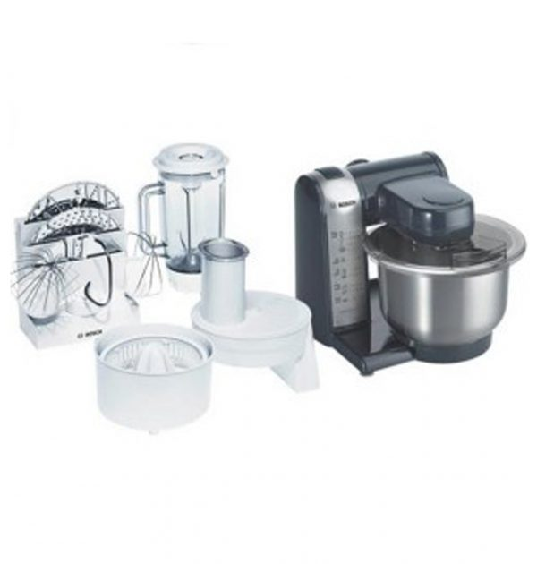 Bosch-MUM46A1GB-Food-ProcessorMixer-Stainless-Steel-with-Accessories