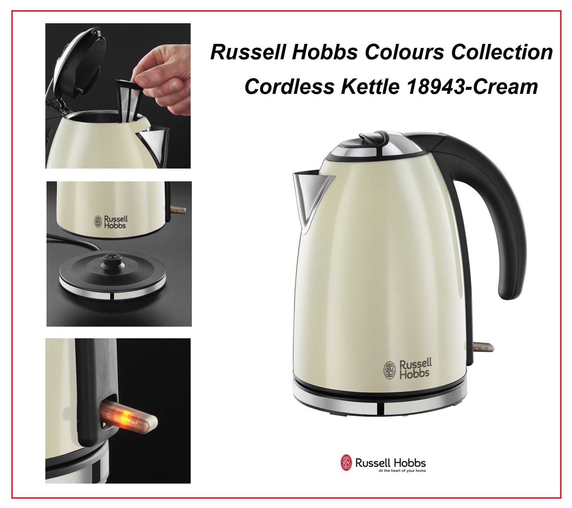 russell hobbs colours collection 18943 electric cordless. Black Bedroom Furniture Sets. Home Design Ideas