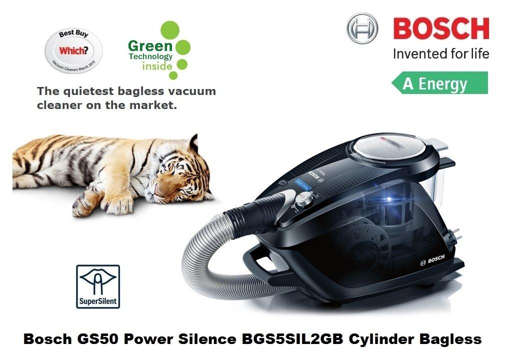Bosch Gs50 Power Silence 2 Vacuum Bagless Cylinder