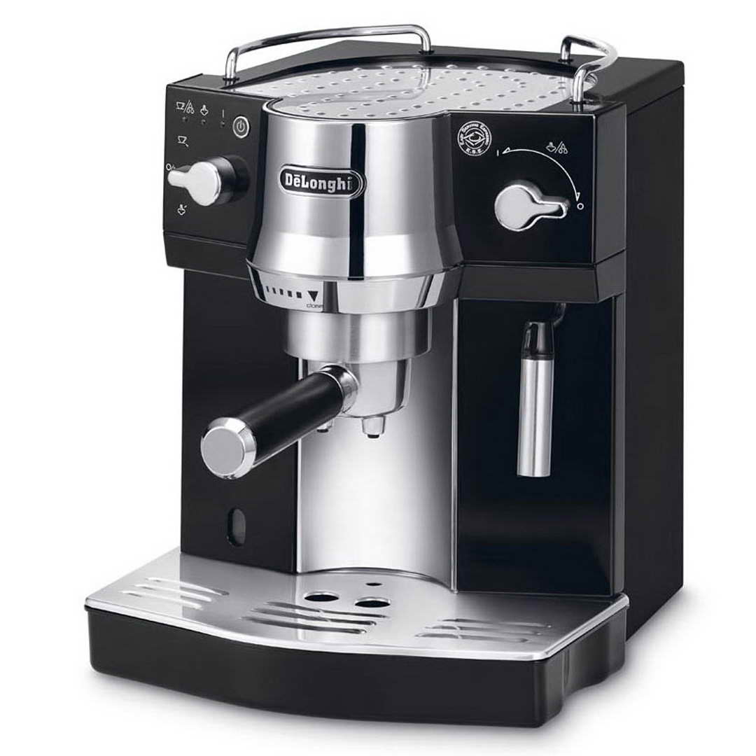 delonghi ec820 b espresso cappuccino machine with milk frother around the clock offers. Black Bedroom Furniture Sets. Home Design Ideas
