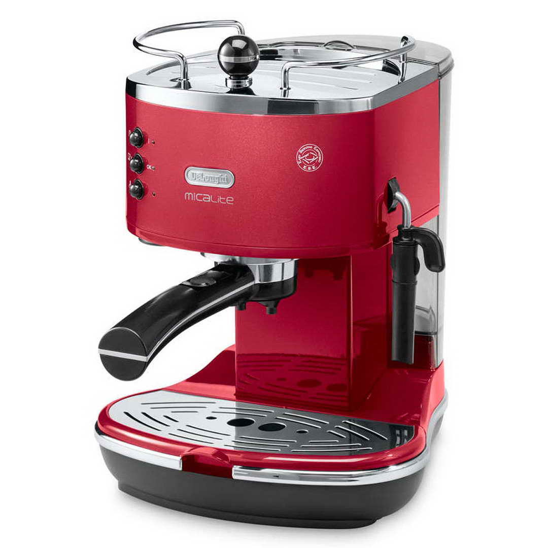 delonghi micalite icona espresso cappuccino machine scarlett red ecom311r around the clock offers. Black Bedroom Furniture Sets. Home Design Ideas