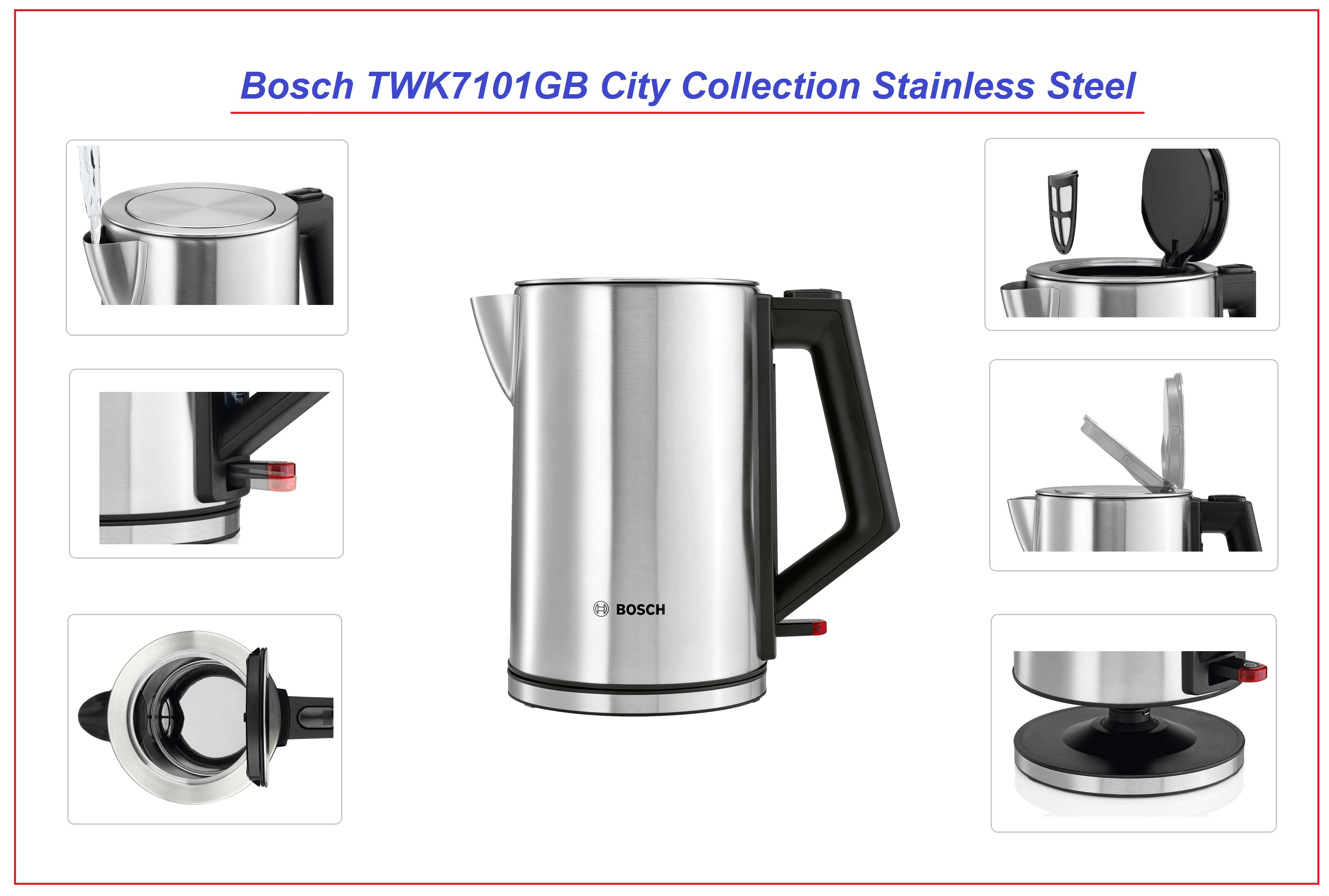 bosch twk7101gb city collection stainless steel kettle 1. Black Bedroom Furniture Sets. Home Design Ideas
