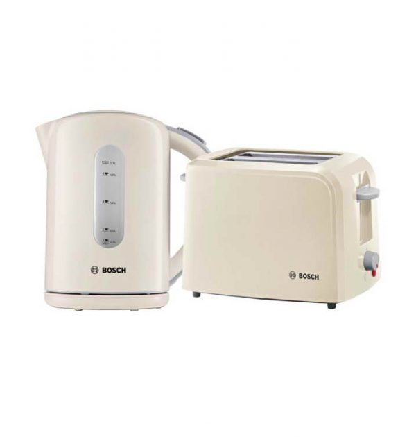 Bosch Village Collection Cream Kettle Toaster combo