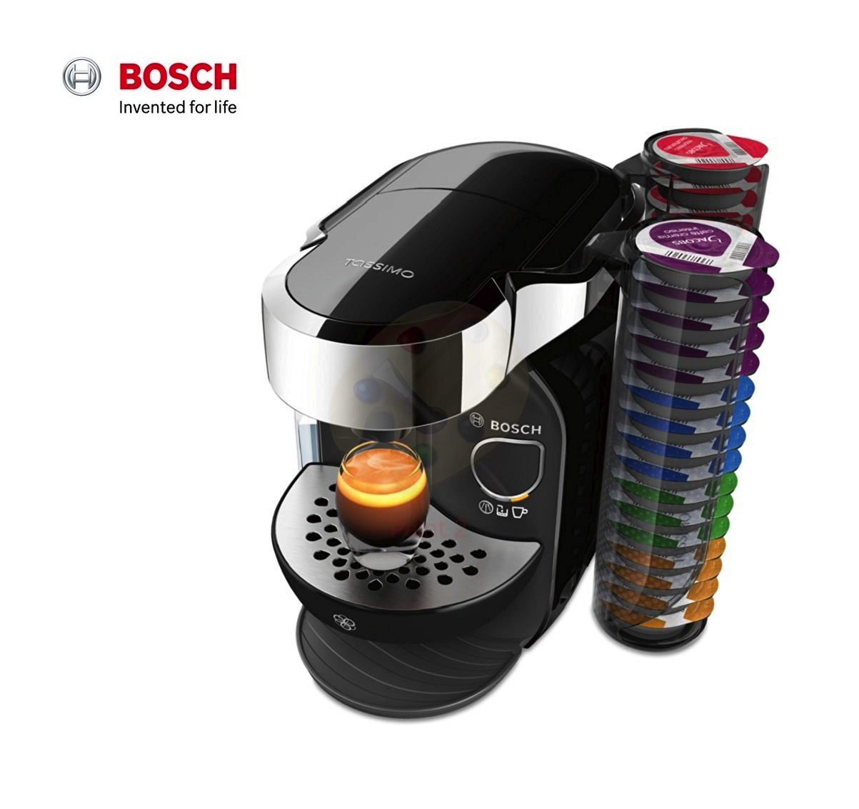 bosch tassimo caddy t75 coffee machine black tas7002gb around the clock offers. Black Bedroom Furniture Sets. Home Design Ideas
